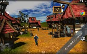 future village wallpapers cartoon village 3d live wallpaper android apps on google play