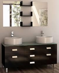 55 Inch Bathroom Vanity Double Sink Design Element Wellington Double Sink Vanity Set 55 Inch Vanity