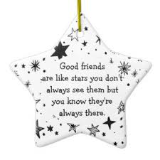 friendship quotes tree decorations ornaments zazzle