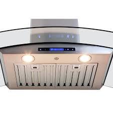 kitchen recessed lighting under ductless range hood design ideas