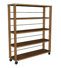 Shelves With Wheels by Ana White Rolling Industrial Shelves Diy Projects