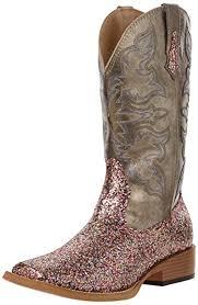 roper womens boots sale amazon com roper s bling squaretoe boot metallic grey
