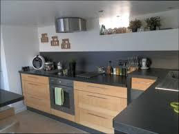 cuisine bois cuisine bois et plan de travail noir of cuisine