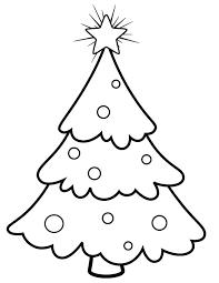 snowy christmas trees coloring pages color luna