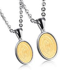 religious necklace religious gold medal pendant necklace for men