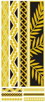 flash tattoos gold leaf tribal