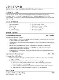 resume template for managers executives den professional marketing resume resume for a marketing manager