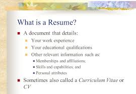 Personal Attributes On A Resume Personal Learning Plan Create A Resume What Is A Resume A