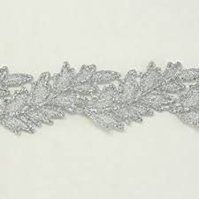 lace ribbon by the yard silver metallic lace trim metallic ribbon trim by the