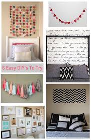 Home Decoration Craft Ideas Simple Craft Ideas For Decorating A Bedroom Best Home Design Fancy