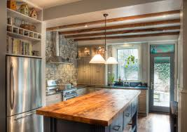 butcher block desk kitchen traditional with kitchen shelves