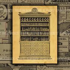 Vintage Pharmacy Cabinet 1800 U0027s Vintage Apothecary Cabinet Digital Download