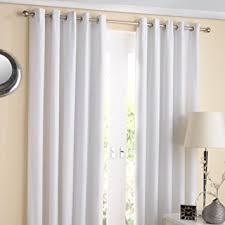 Eyelet Curtains 90 X 72 Plain Eyelet Top Ring Top Silver White Thermal Lined Curtains 90