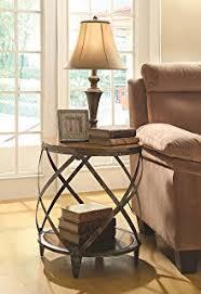 light wood end tables amazon com ashley furniture signature design nartina end table