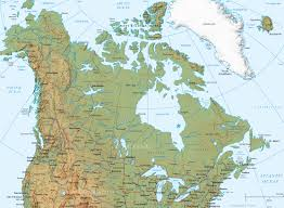 map of canada canada physical map and flag america