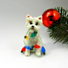 westie west highland white terrier ornament figurine