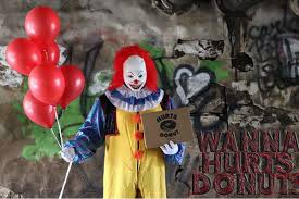 texas doughnut shop offers delivery via scary clown eater