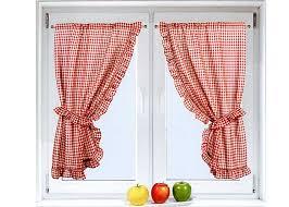 rideaux cuisine rideau bonne femme vichy à volant frou frou et embrasses