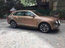 customized bentley bentayga bentley bentayga spied in india to be launched on 22nd april