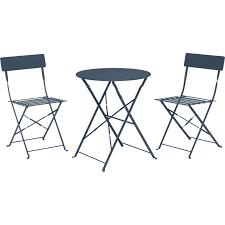 table ronde et chaises ensemble bistro 1 table ronde et 2 chaises