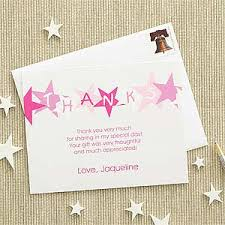 personalized thank you cards personalized thank you cards pink birthday gifts