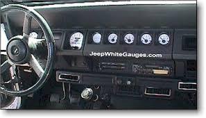 jeep wrangler custom dashboard jeepwhitegauges com jeep white face gauges yj wranglers guages gages