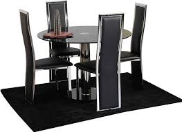 Beautiful Black Dining Room Set Gallery Room Design Ideas - Four dining room chairs