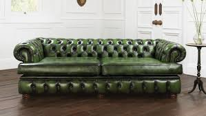 Blue Chesterfield Leather Sofa by Furniture Contemporary Furniture For Living Room Decoration Using