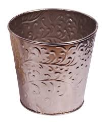 color planter u2013 round shaped u2013 cast in iron with embossed motifs