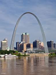 Gateway Arch Gateway Arch From Mississippi River St Louis Missouri Usa Stock