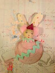 easter bunny shell ornaments the kids crafts blog