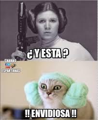 Memes De Star Wars - imitación de leia de star wars cabras espartanas