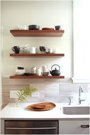 kitchen shelves decorating ideas kitchen shelves oak floating shelves are a perfect accessory for