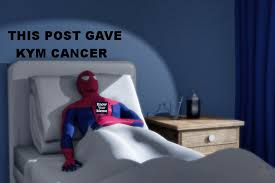 Spiderman Meme Cancer - cancerous posting harms kyman that post gave me cancer know