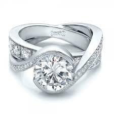 interlocked wedding rings custom interlocking diamond engagement ring 100615