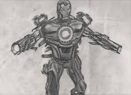 iron man superhero sketch by silverbackpie on deviantart