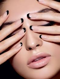 70 ideas of french manicure black nail polish french nails and