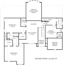 second floor plans tulip hill 7889 3 bedrooms and 3 baths the house designers