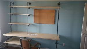 diy pipe shelf and desk imgur