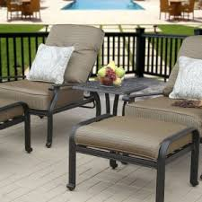 Patio Furniture Sarasota Fl by Furniture Simple Tropitone Lounge Chairs With Cream Pillow And
