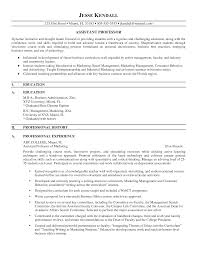 collection of solutions sample resume of assistant professor in