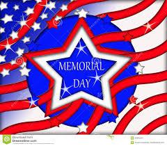 Red White Flag With Blue Star Memorial Day Flag Sign Banner Stock Illustration Illustration