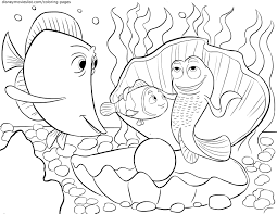 Disney S Finding Nemo Coloring Pages Sheet Free Disney Printable Nemo Color Pages