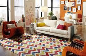 Chevron Shag Rug Living Room Beautiful Chevron Living Room Ideas With Colorful
