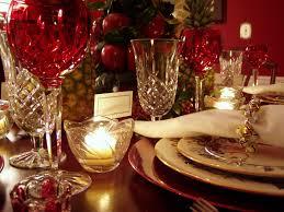 Lenox Home Decor Williamsburg Christmas Table Setting With Apple Tree Centerpiece