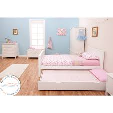 girls white beds stompa classic white single bed