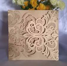 Wedding Invitation Empty Cards Wedding Invitations Invite Lace Laser Cut Out Effect Blank Cards W