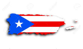 Map Of Puerto Rico Map Of Puerto Rico Filled With The State Flag Stock Photo Picture