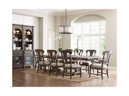 kincaid furniture greyson nine piece dining set with crawford