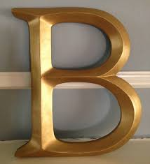 B Home Decor Large Single Letter Initials Monogram Letter B Gold